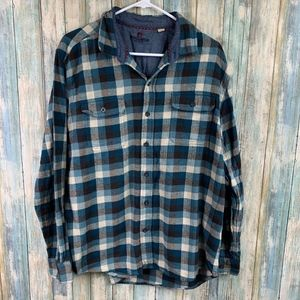 Woolrich Mens Plaid Flannel Shirt Size XL